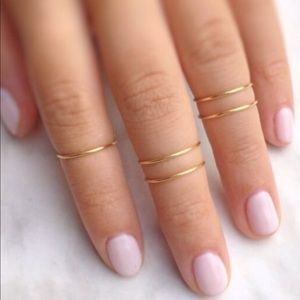 Midi gold and silver rings